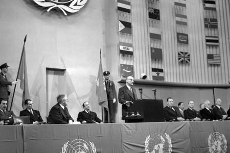 UN General Assembly session that approved Universal Declaration of Human Rights in 1984.
